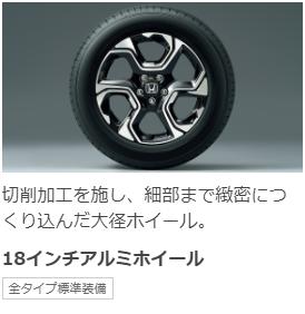 新型CR-Vのホイール
